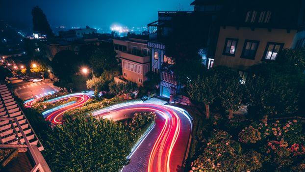 Фото бесплатно ночь, здания, таймлапс