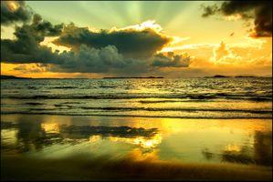 Фото бесплатно солнце, волны, пляж