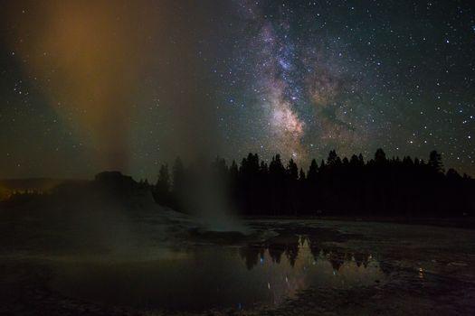 Фото бесплатно пейзаж, ночь, пар