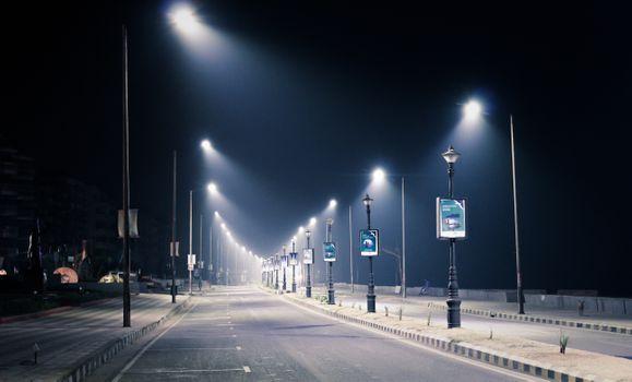 Заставки ночь, дорога, фонари