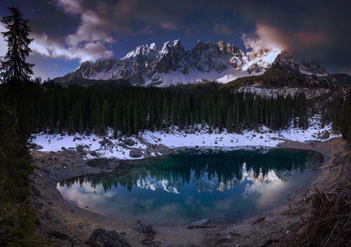 Заставки природа, озеро, холод