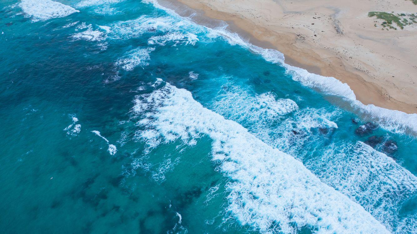 Фото бесплатно пена океан вид с воздуха - на рабочий стол