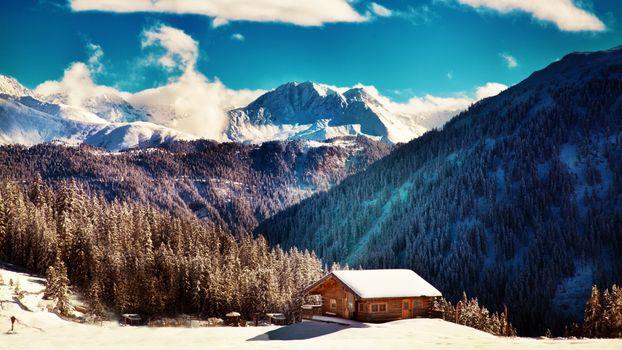 Фото бесплатно снег, горы, природа