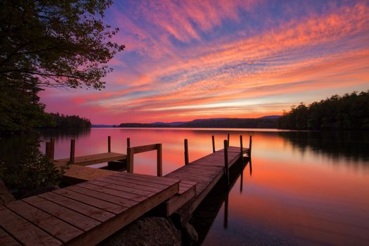 Photo free Squam Lake Sunset, New England, New Hampshire