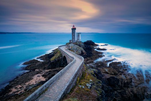Бесплатные фото Франция,Маяк дю Пети Мину,Phare du Petit Minou,Брест,закат,море,пейзаж