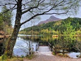 Фото бесплатно пейзаж, пруд, шотландия