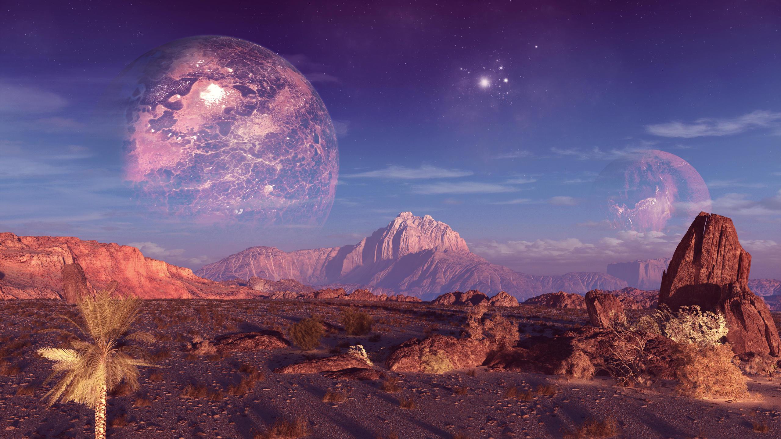 Обои Звездное небо над землей картинки на рабочий стол на тему Космос - скачать  № 1768355 без смс