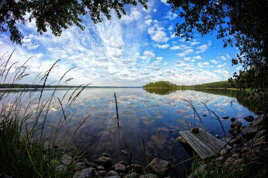 Фото бесплатно озеро, деревья, Финляндия
