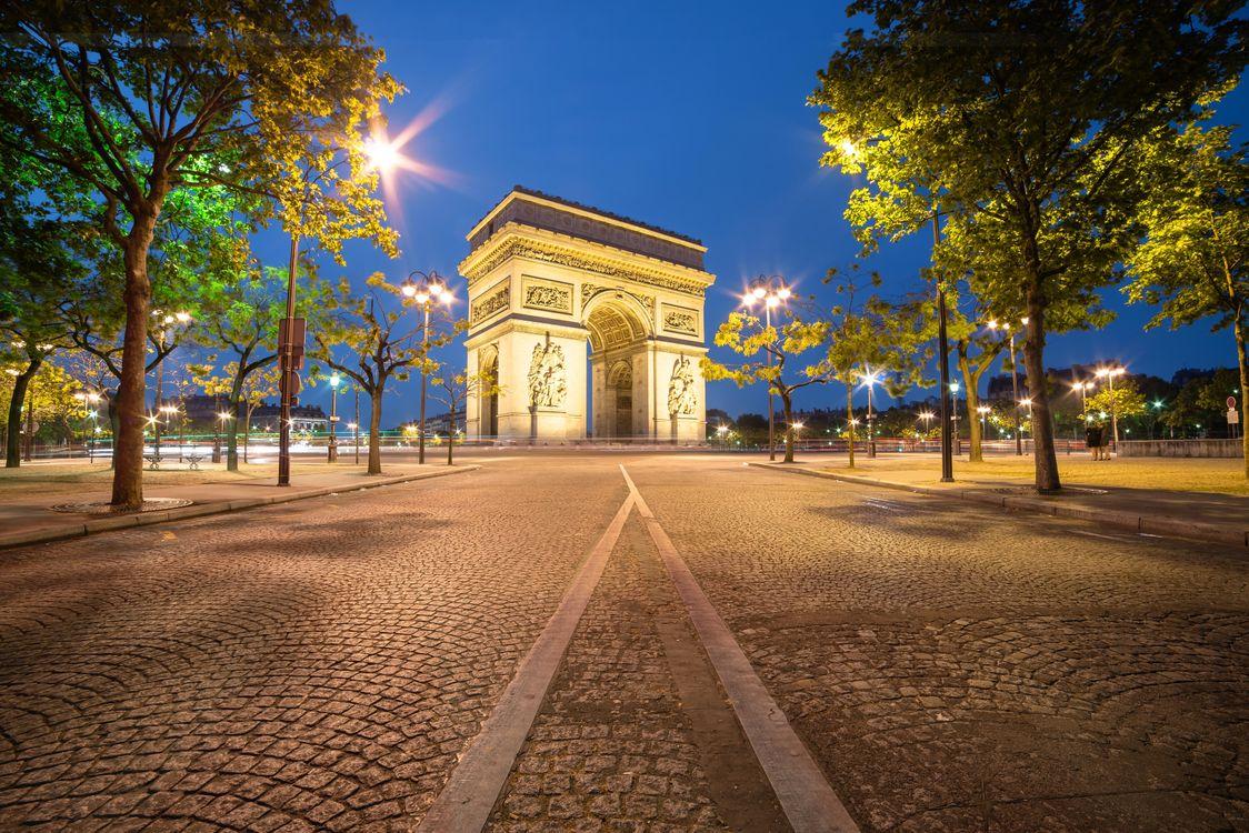 Фото бесплатно Триумфальная арка, Париж, Франция - на рабочий стол