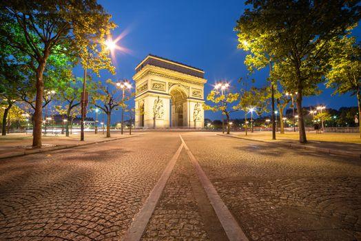 Фото бесплатно Триумфальная арка, Париж, Франция