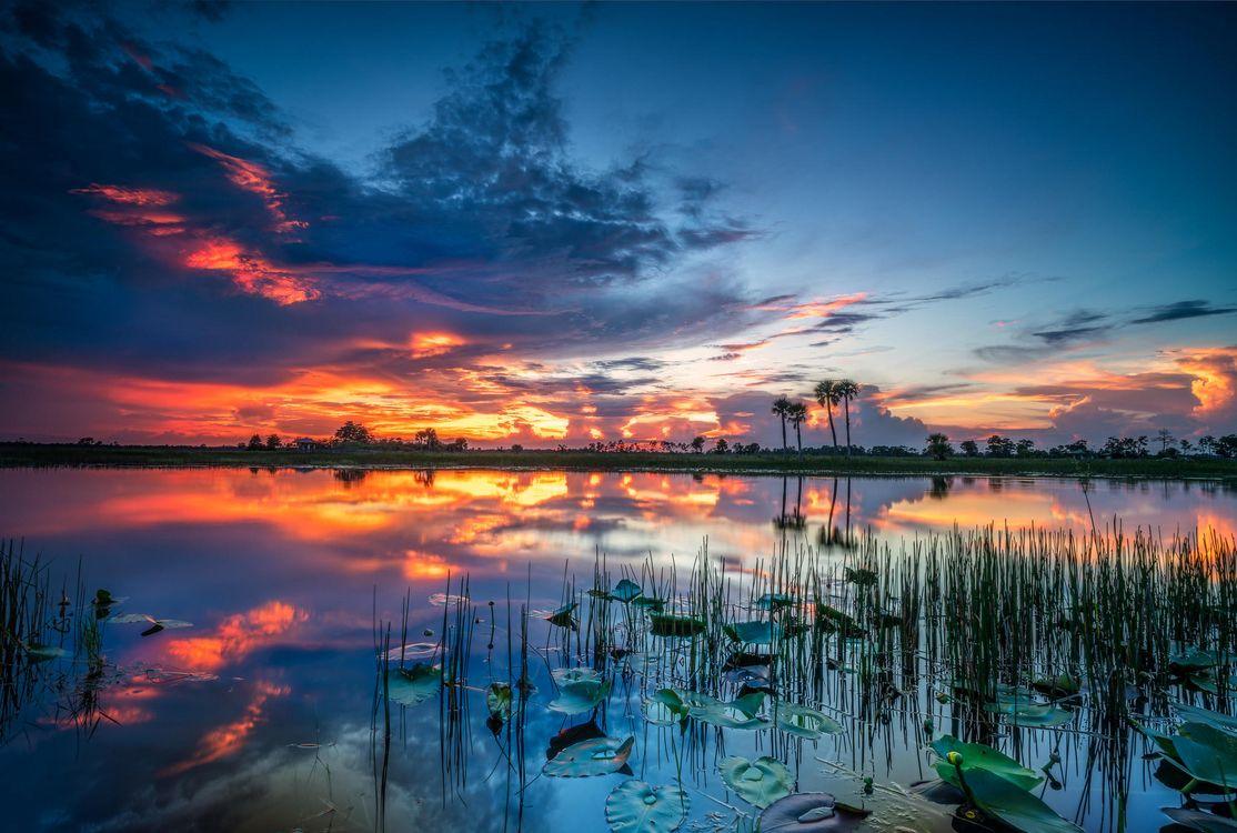 Фото бесплатно пейзаж, озеро, небо - на рабочий стол