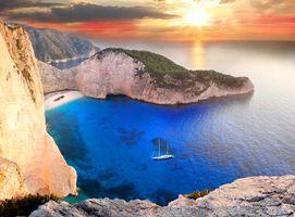 Бесплатные фото Греция,море,бухта