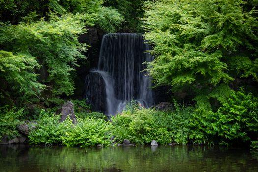 Photo free Japan, Expo Memorial Park, waterfall