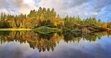 Фото бесплатно пейзаж, озеро, Норвегия