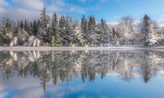 Заставки Канада, New Brunswick, снег