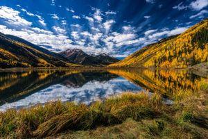Бесплатные фото Colorado,озеро,осень,горы,деревья,пейзаж