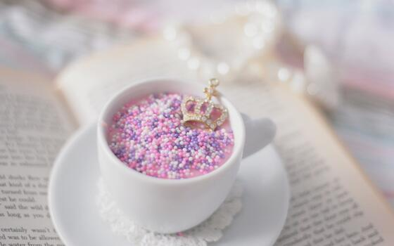 Photo free cup, breakfast, pink