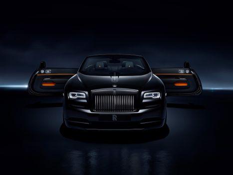 Фото бесплатно роллс ройс, Rolls Royce Dawn Black Badge, 2017 Cars