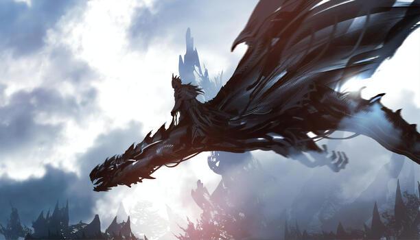 Фото бесплатно драконы, художник, произведение искусства