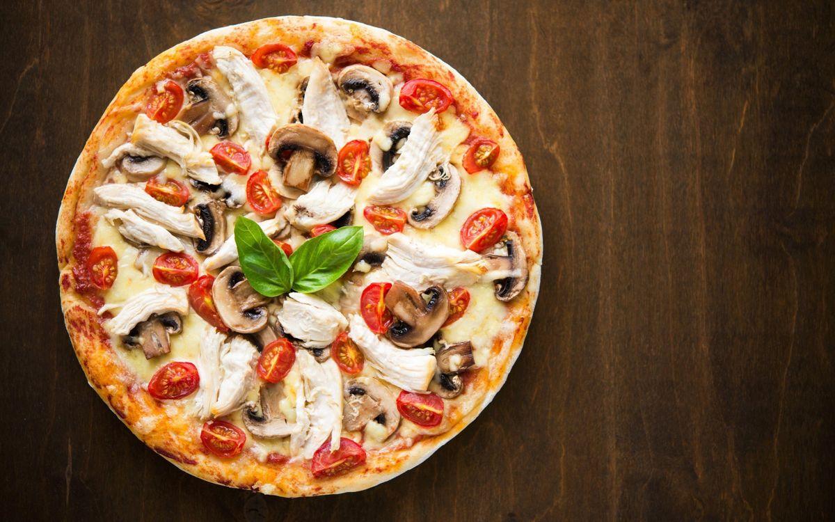 Фото еда пицца круглая - бесплатные картинки на Fonwall