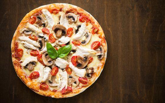Фото бесплатно еда, пицца, круглая
