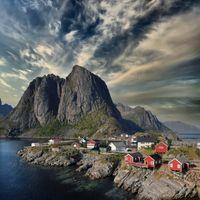 Фото бесплатно дома, горы, Норвегия