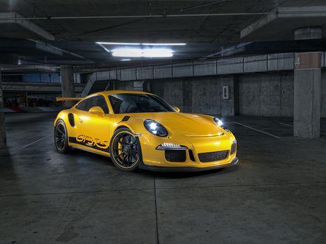 Заставки Porsche 911, желтый, парковка