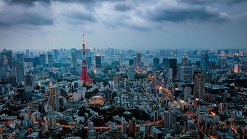 Заставки Tokyo Tower,Токийская башня,Токио,Япония