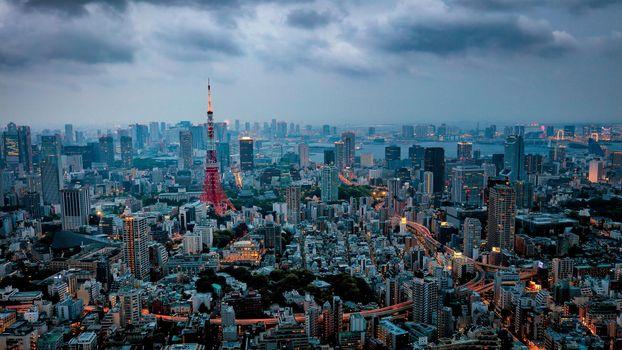 Фото бесплатно Tokyo Tower, Токийская башня, Токио, Япония