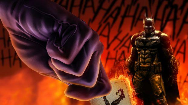 Фото бесплатно бэтмен, джокер, произведение искусства