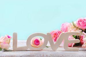 Бесплатные фото любовь,сердце,пастель,цветы