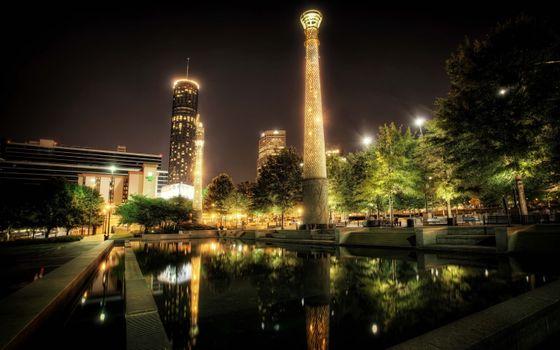 Photo free USA, Atlanta, night