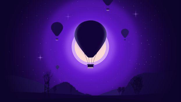 Фото бесплатно воздушный шар, небо, плоский пейзаж