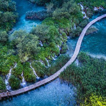 Фото бесплатно водопад, Хорватия, деревья