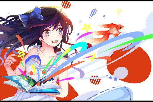 Фото бесплатно красочный, иллюстрация, аниме