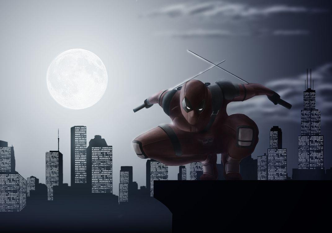 Обои Deadpool, супергерои, Behance картинки на телефон