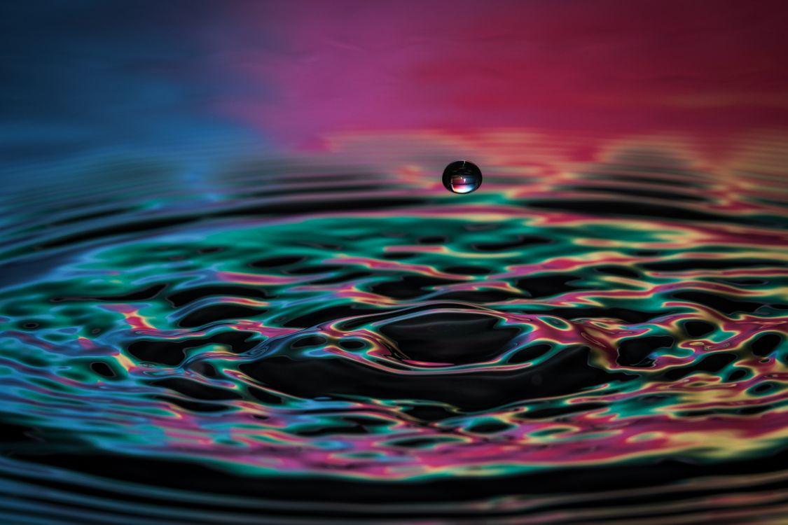 Фото капли вода рябь - бесплатные картинки на Fonwall