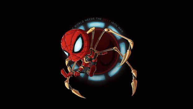 Фото бесплатно паук, супергерои, произведение искусства