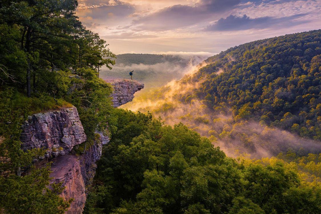 Фото бесплатно Whitaker Point, Arkansas, Уитакер-Пойнт, Арканзас, горы, скалы, деревья, пейзаж, пейзажи