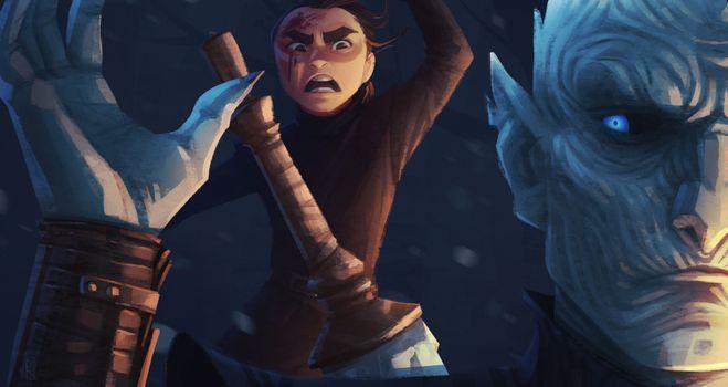 Заставки Arya Stark, Behance, произведение искусства