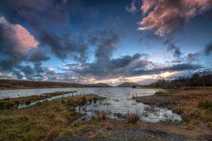 Бесплатные фото Louch Morne,Барнсмор-Гэп,Баллибофей,Донегал,графство Донегал,Ирландия,закат