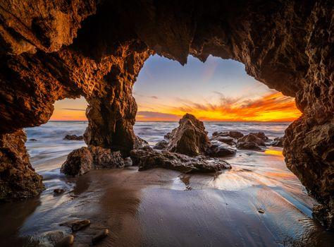 Фото бесплатно арка, калифорнийская скала, скалистый берег