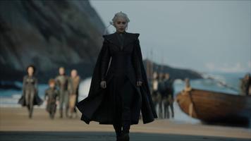 Бесплатные фото Дейнерис Таргариен,матерь драконов,игра престолов,актриса,Эмилия Кларк,пляж,кадры из фильма
