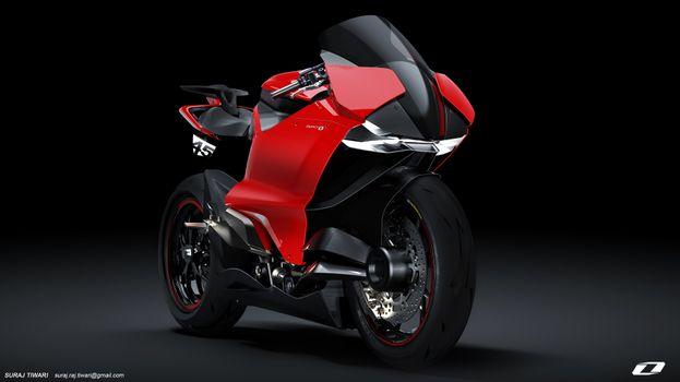 Фото бесплатно Ducati, красный мотоцикл, новый