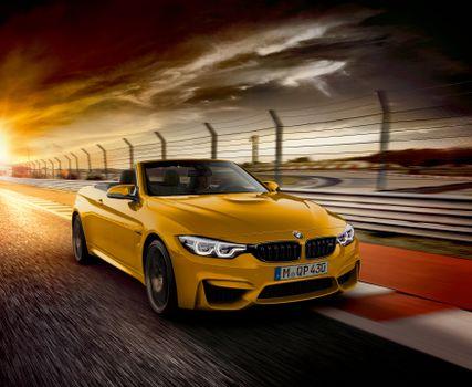 Фото бесплатно BMW M4, кабриолет, желтый