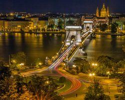 Фото бесплатно цепной мост, Будапешт, круговое движение