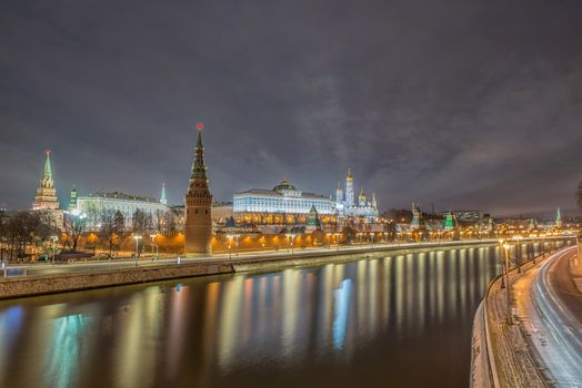 Photo free night, Moscow, the Moscow river