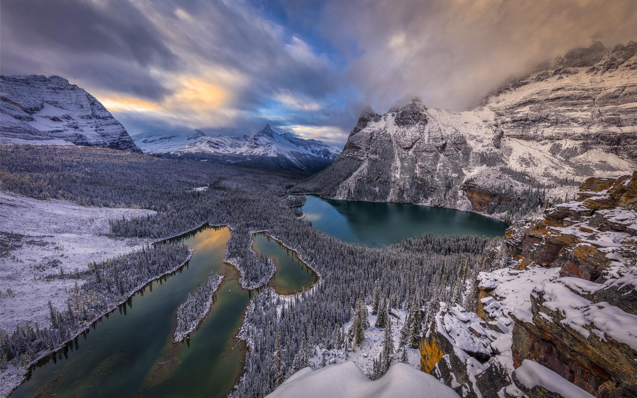 Обои Озеро О`Хара, Канада, Национальный парк Йохо, горы