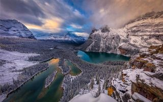 Фото бесплатно Озеро О`Хара, Канада, Национальный парк Йохо