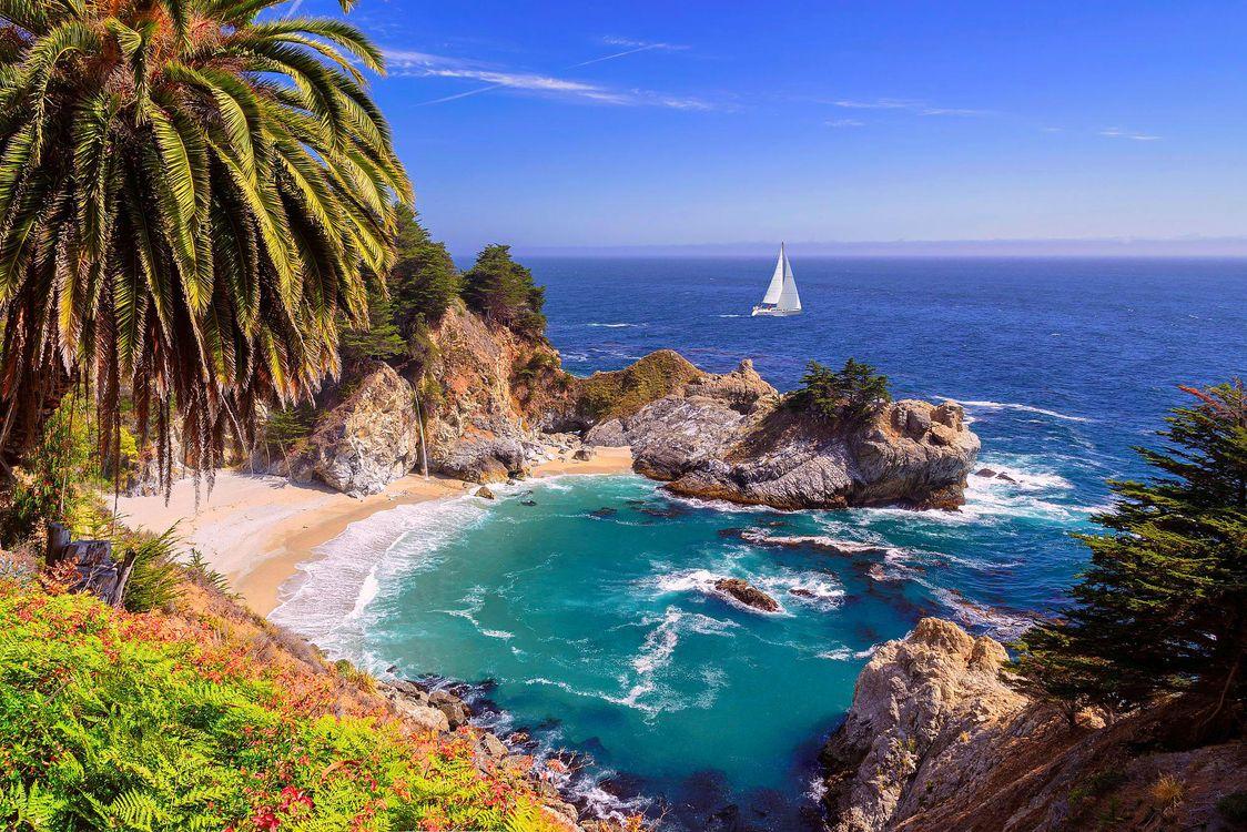 Фото бесплатно тропики, море, яхта, пейзажи - скачать на рабочий стол